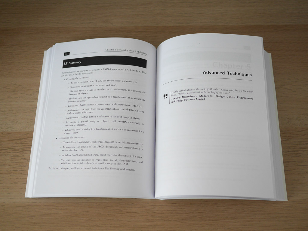 "Mastering ArduinoJson 6 Second Edition, paperback: chapter ""Inside ArduinoJson"""
